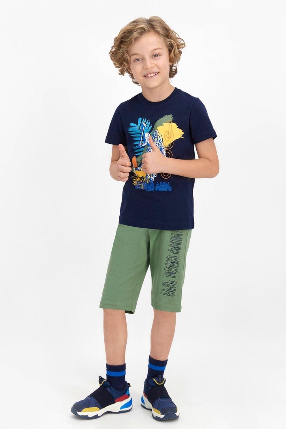 4-8  Yaş Us Polo ASSN Lisanslı Leaf Laci Erkek Çocuk Takım