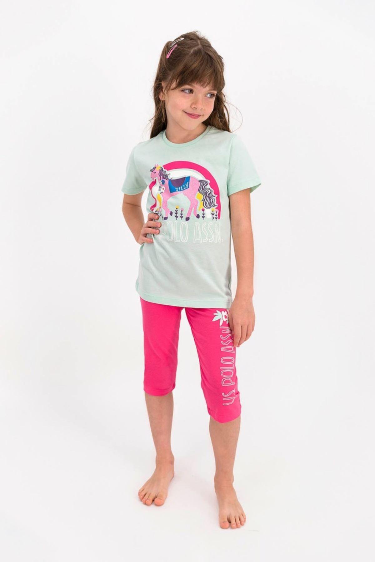 9-15 Yaş Yaş Us Polo ASSN Lisanslı Yeşil Kız Çocuk Takım
