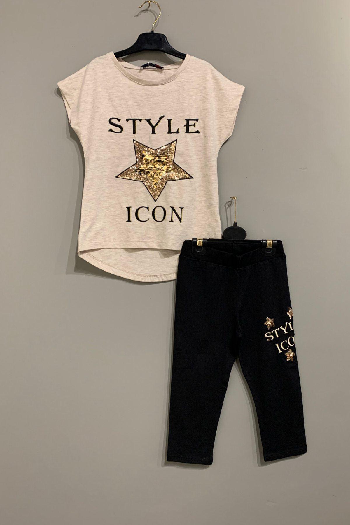 Style Icon Taytlı Kız Çocuk Takım