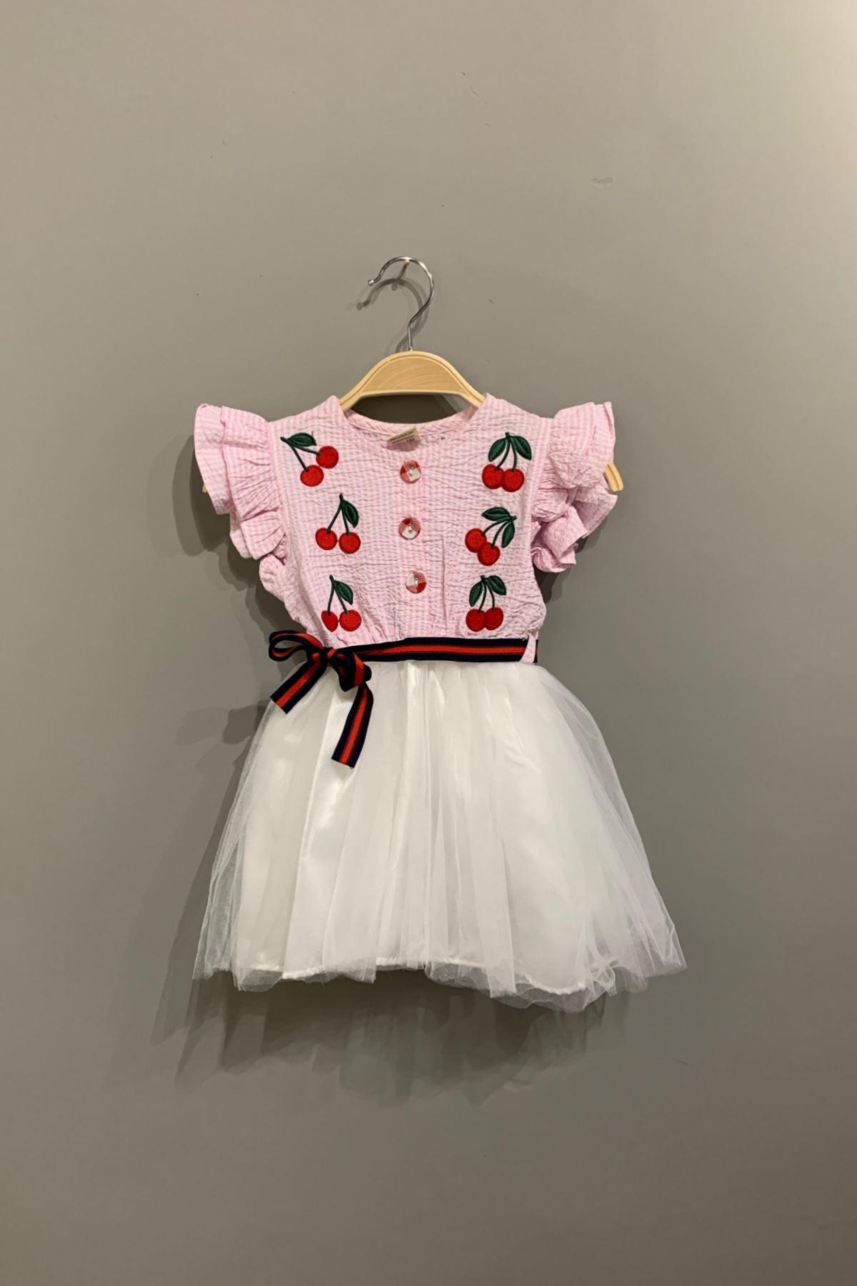 Kiraz Desen Elbise