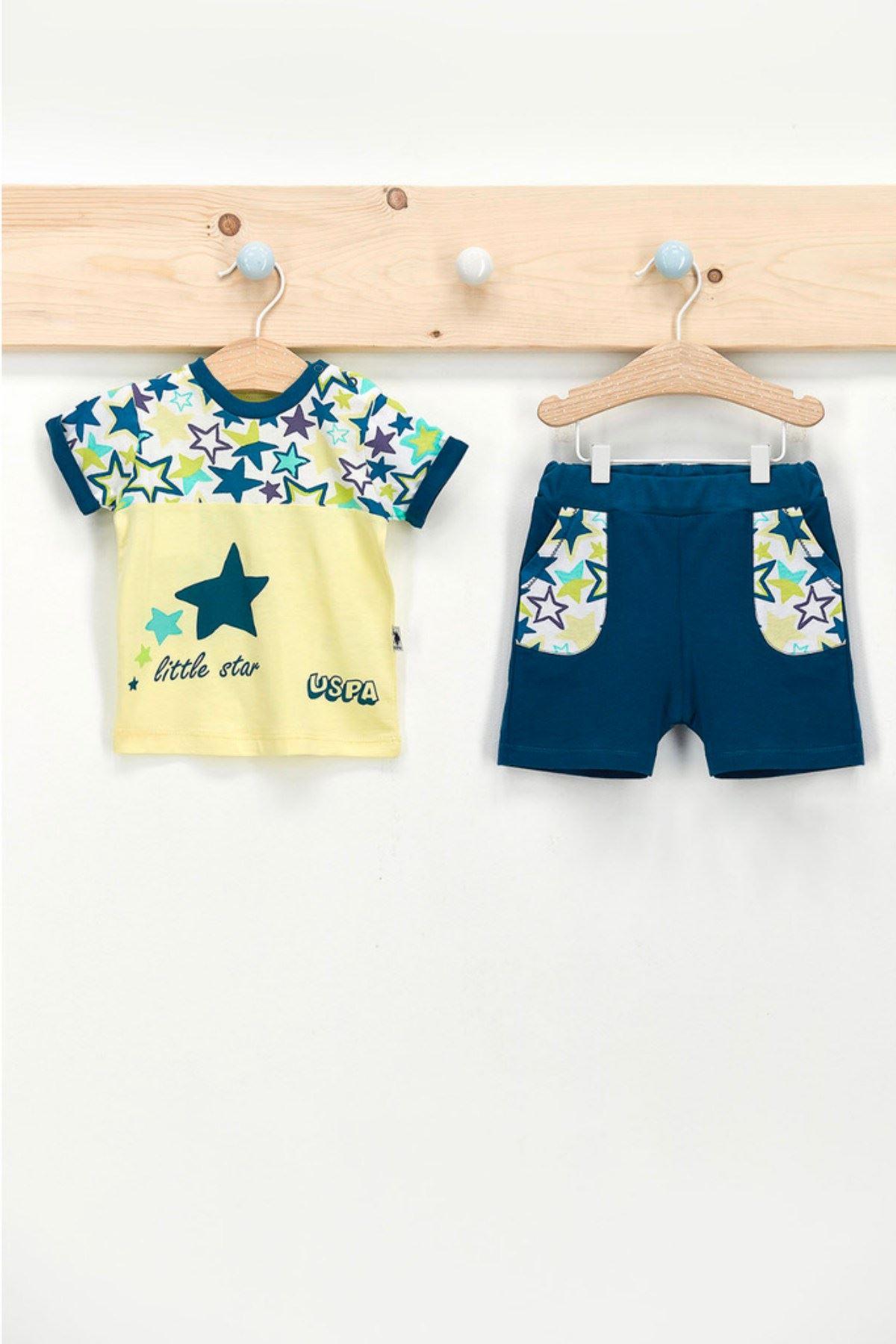 Us Polo ASSN Lisanslı Little Star Erkek Bebek Takım
