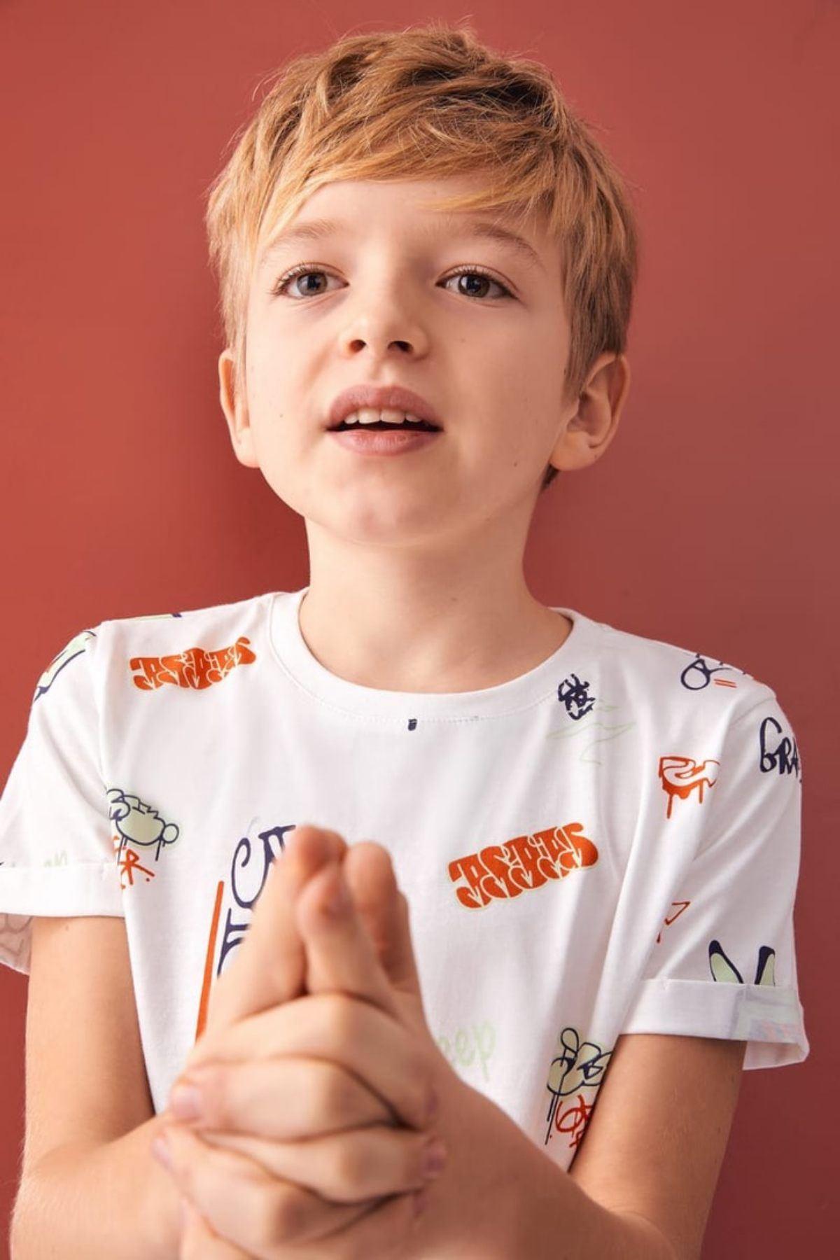 Graffiti Erkek Çocuk T-shirt