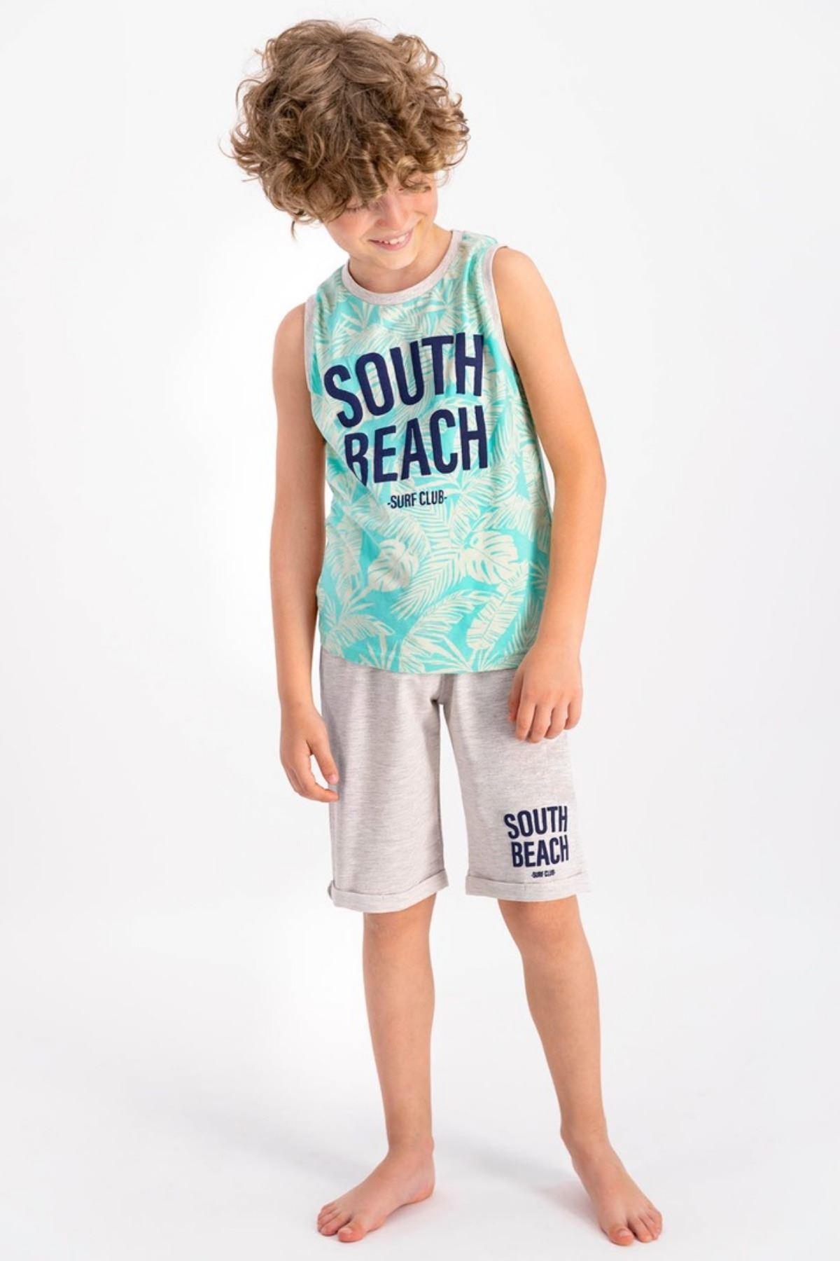 9-15 Yaş South Beach Erkek Çocuk Takım - Bejbelamij