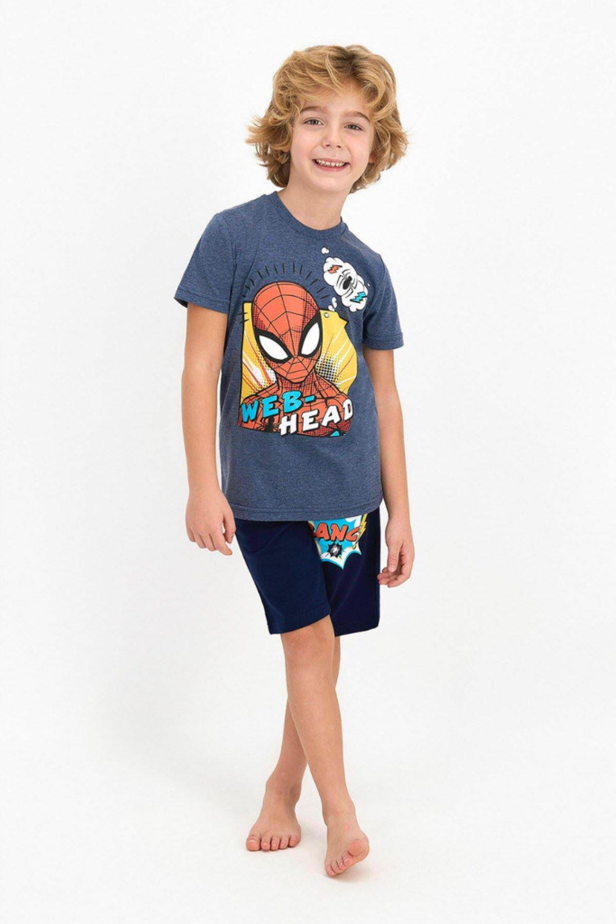 Spider-Man Erkek Çocuk Kapri Takım