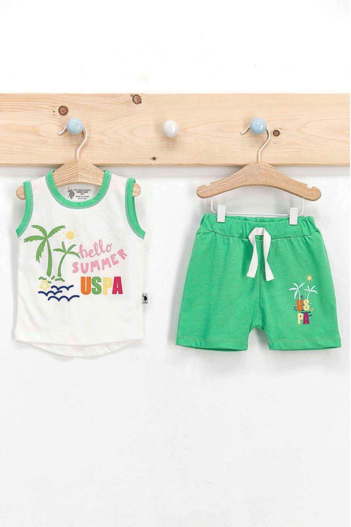 Us Polo ASSN Lisanslı Summer Erkek Bebek Takım