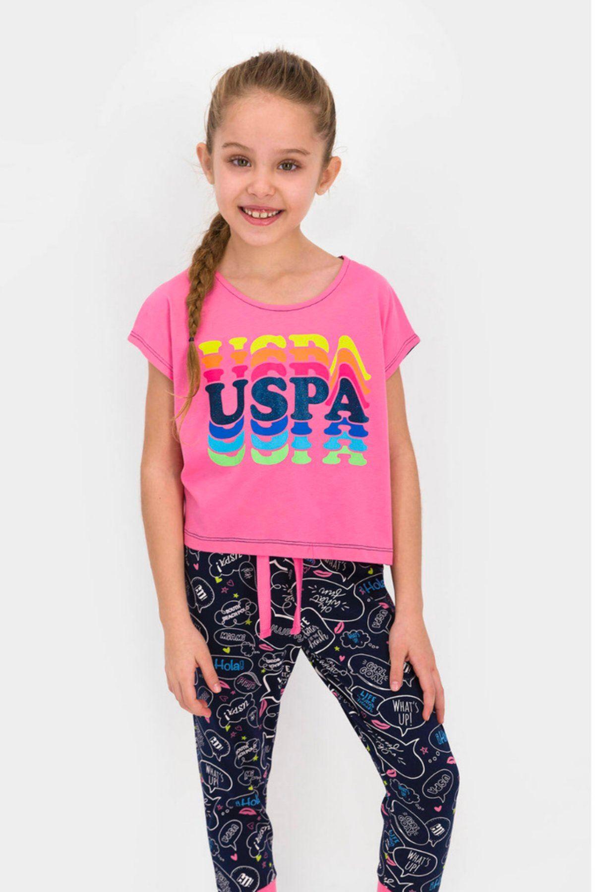 9-15 Yaş Us Polo ASSN Lisanslı Hola Pembe Kız Çocuk Takım