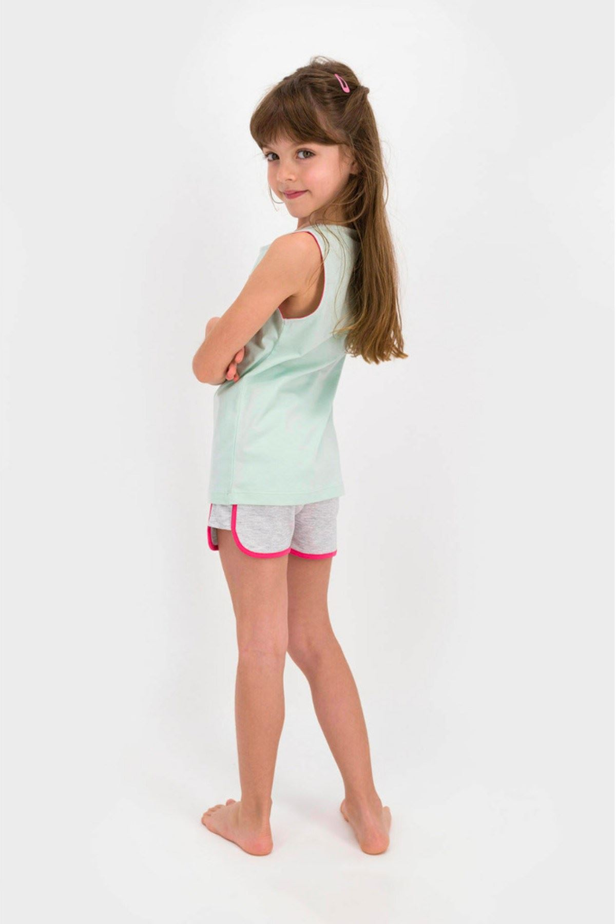 9-15 Yaş Us Polo ASSN Lisanslı San Diego Mint Yeşil Kız Çocuk Takım
