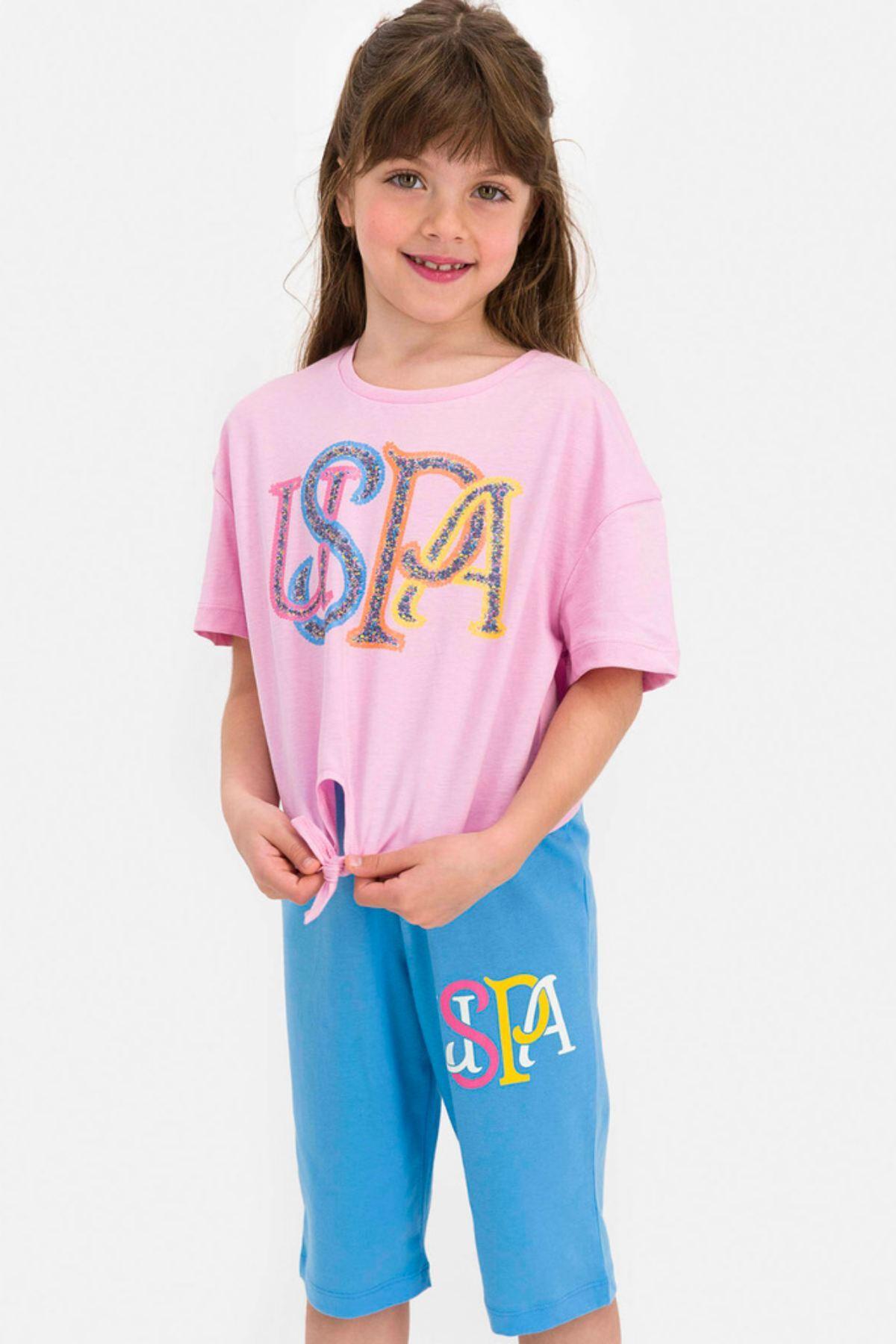 9-15 Yaş  Us Polo ASSN Lisanslı Laced Pembe Kız Çocuk Takım