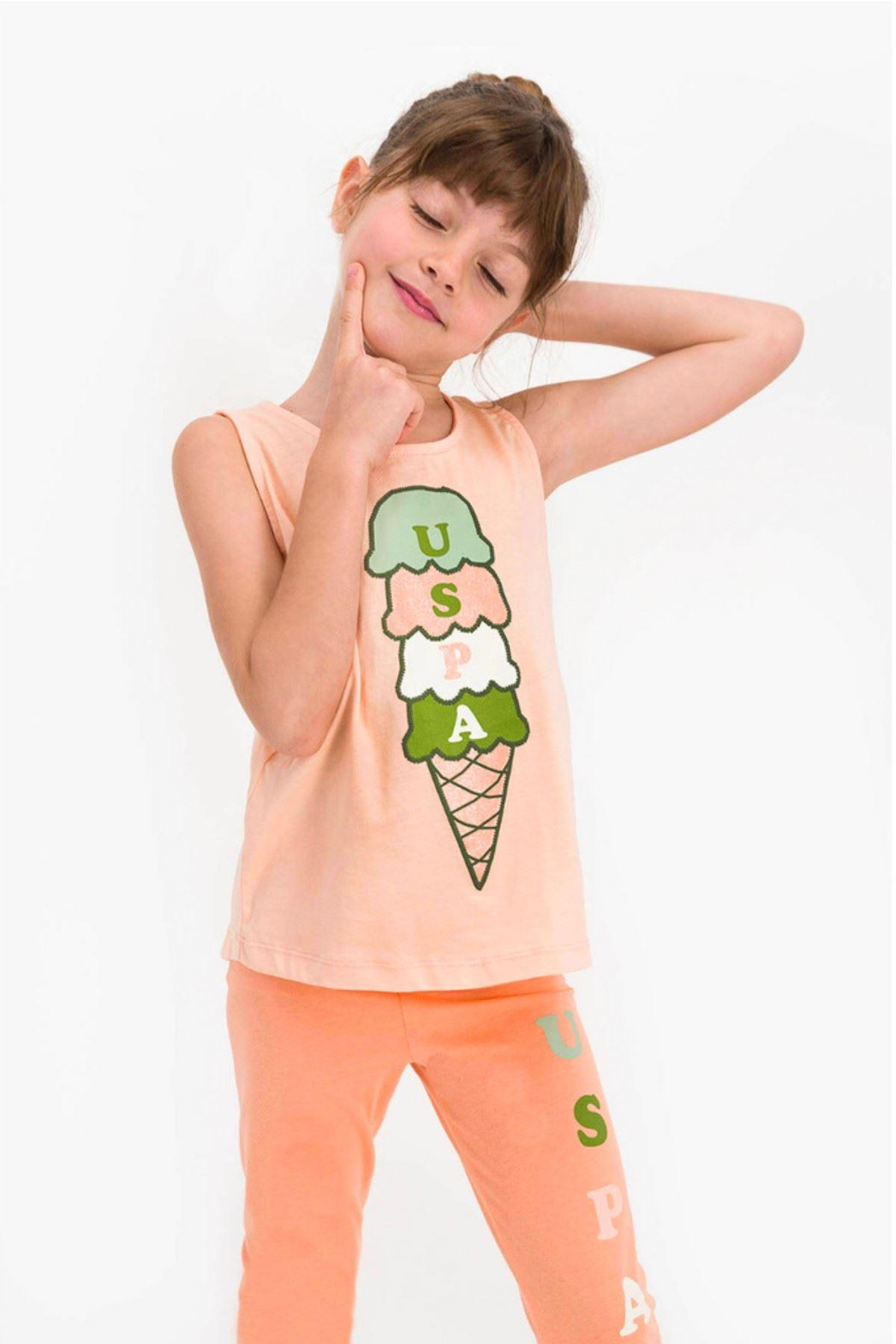 9-15 Yaş Us Polo ASSN Lisanslı Ice Cream Yavru Ağzı Kız Çocuk Takım
