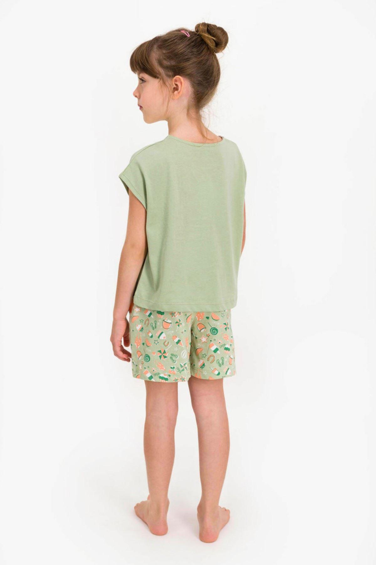 9-15 Yaş Us Polo ASSN Lisanslı Smile Yeşil Kız Çocuk Takım