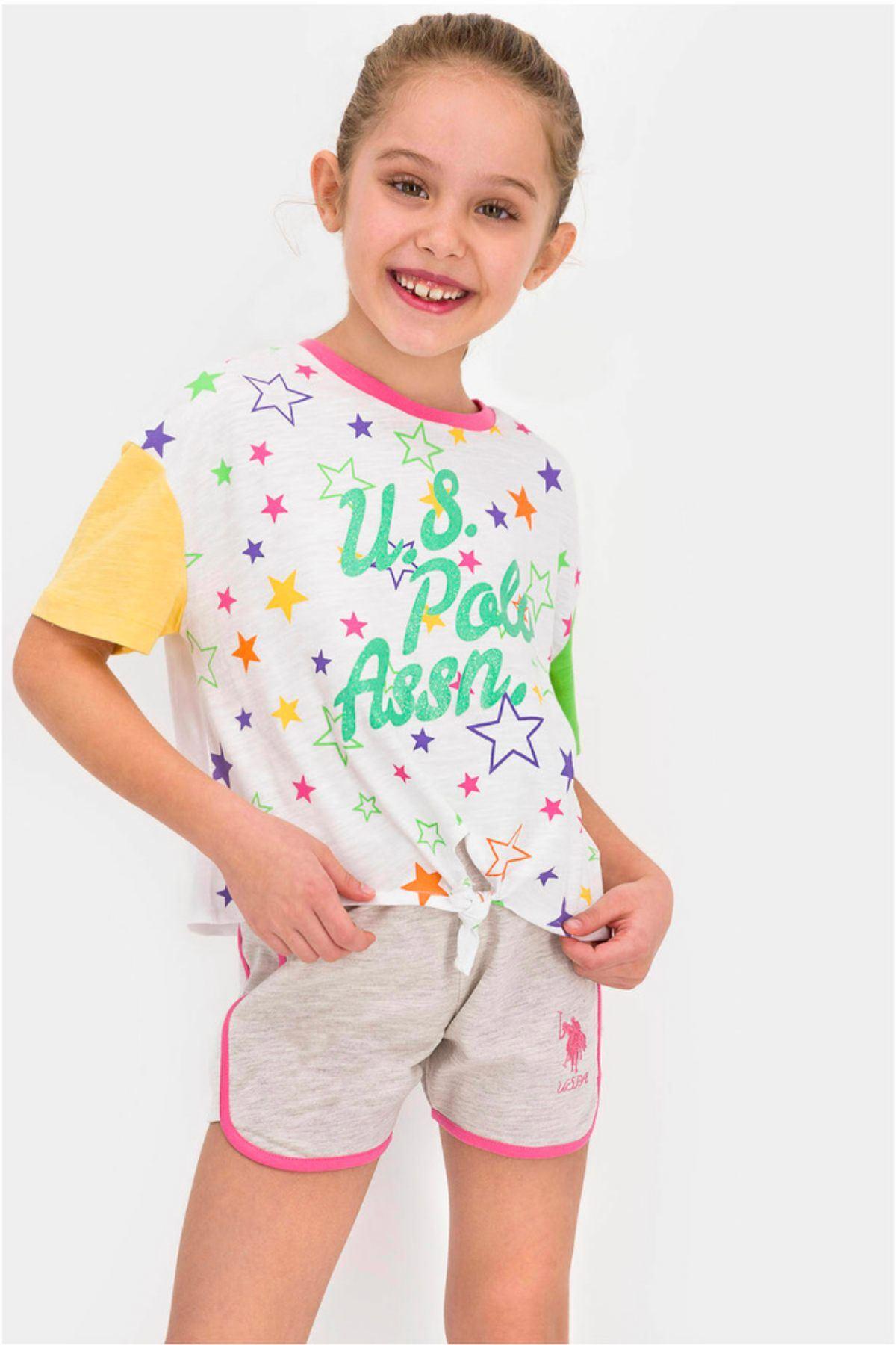 9-15 Yaş Us Polo ASSN Lisanslı Yıldız Yeşil Kız Çocuk Takım