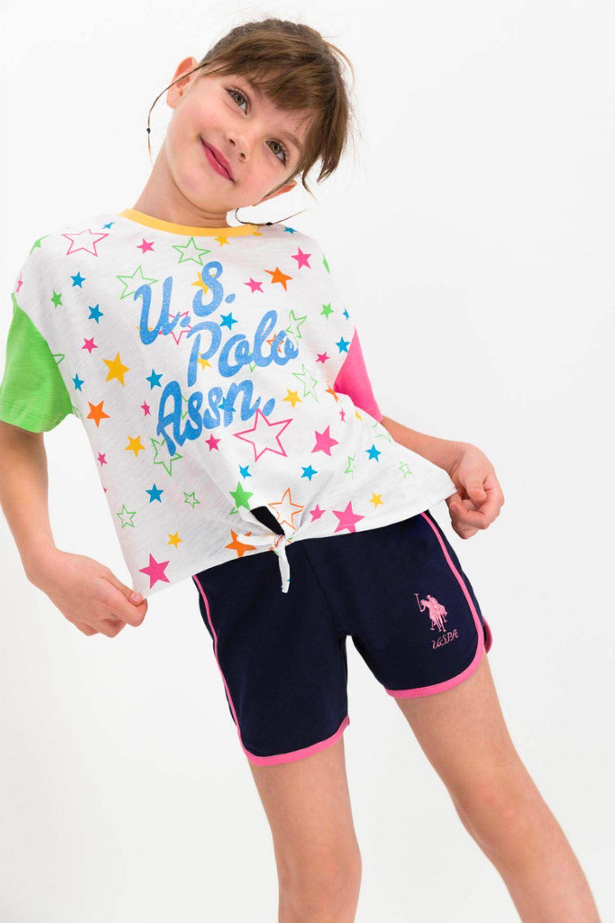 9-15 Yaş Us Polo ASSN Lisanslı Yıldız Mavi Kız Çocuk Takım