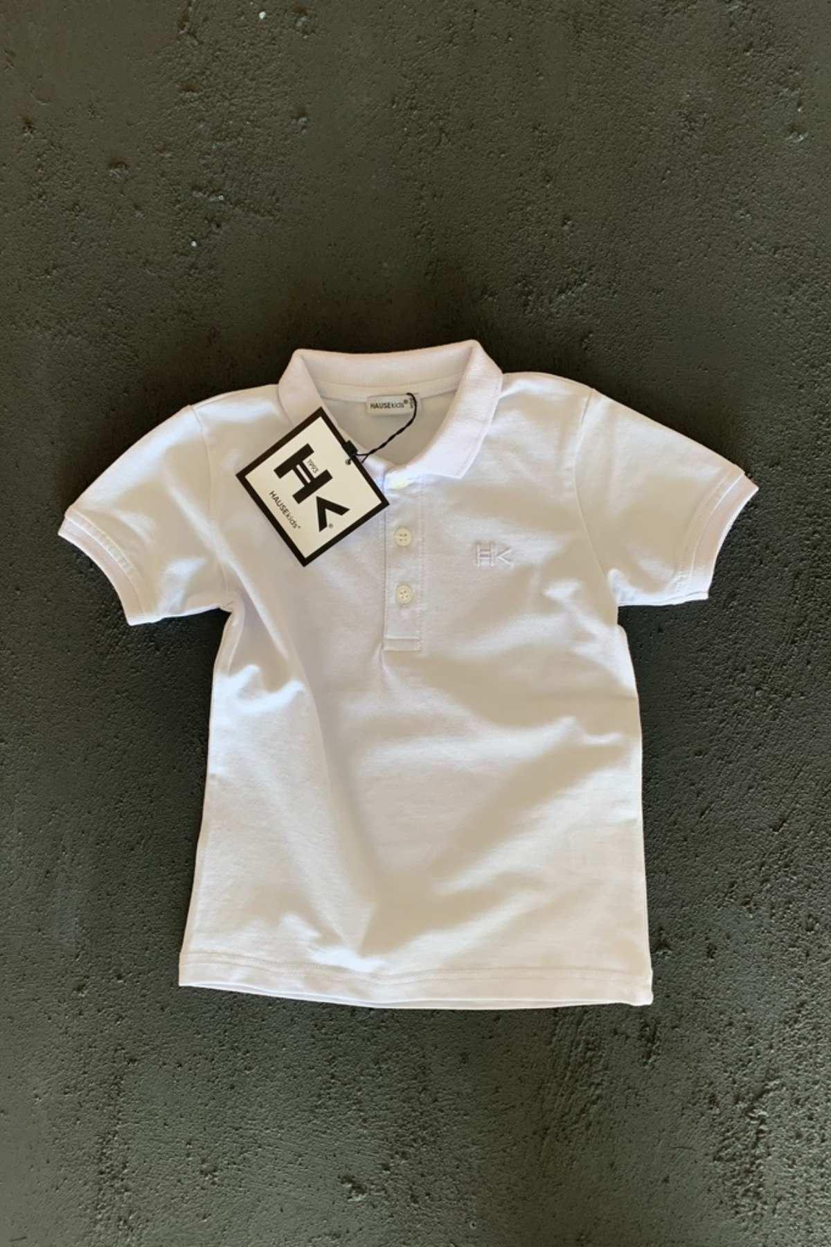 Hk Trend Polo T-shırt - Beyaz