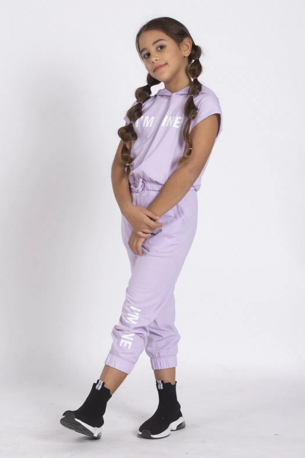 Fıne Kız Çocuk Cool Takım - Lila