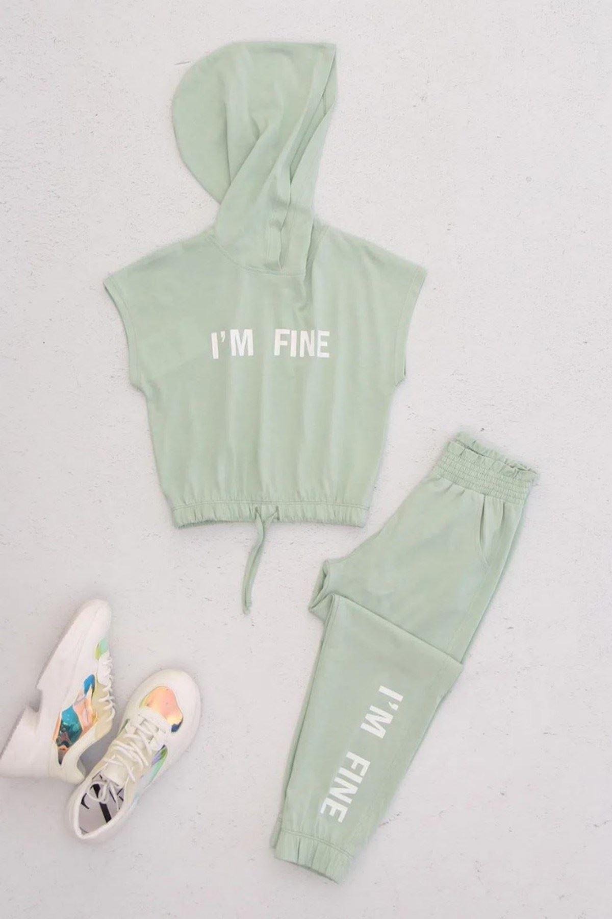 Fıne Kız Çocuk Cool Takım - Yeşil