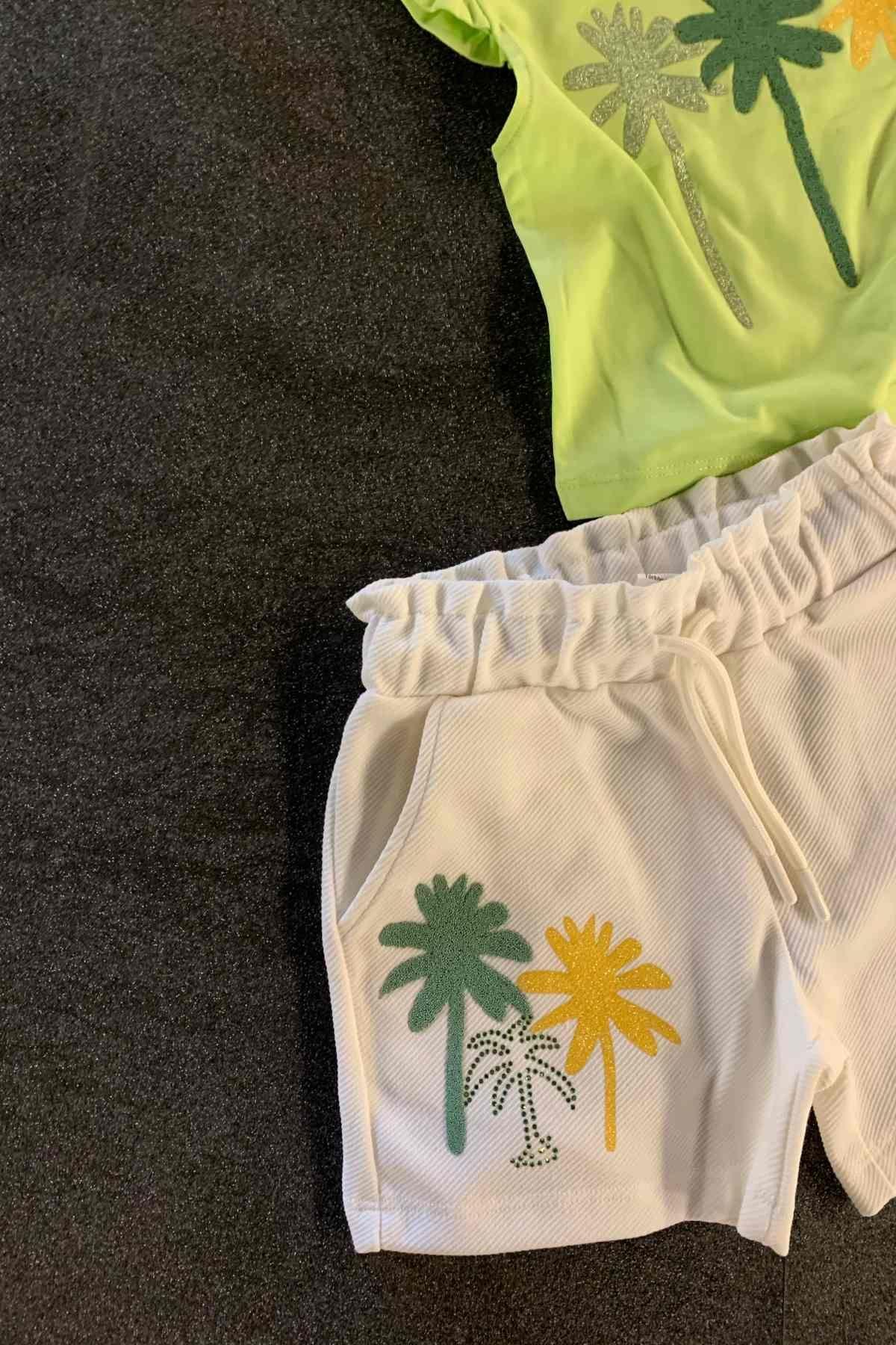 Palmiye Şortlu Takım -  Yeşil