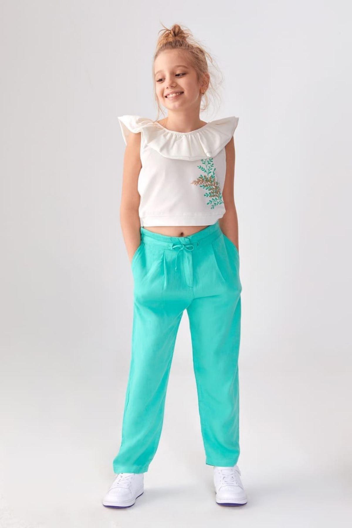 Salaş Viskon Kız Çocuk Pantolon