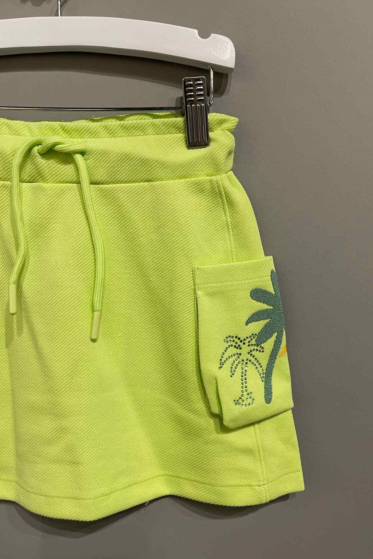 Palmiye Etekli Takım - Yeşil