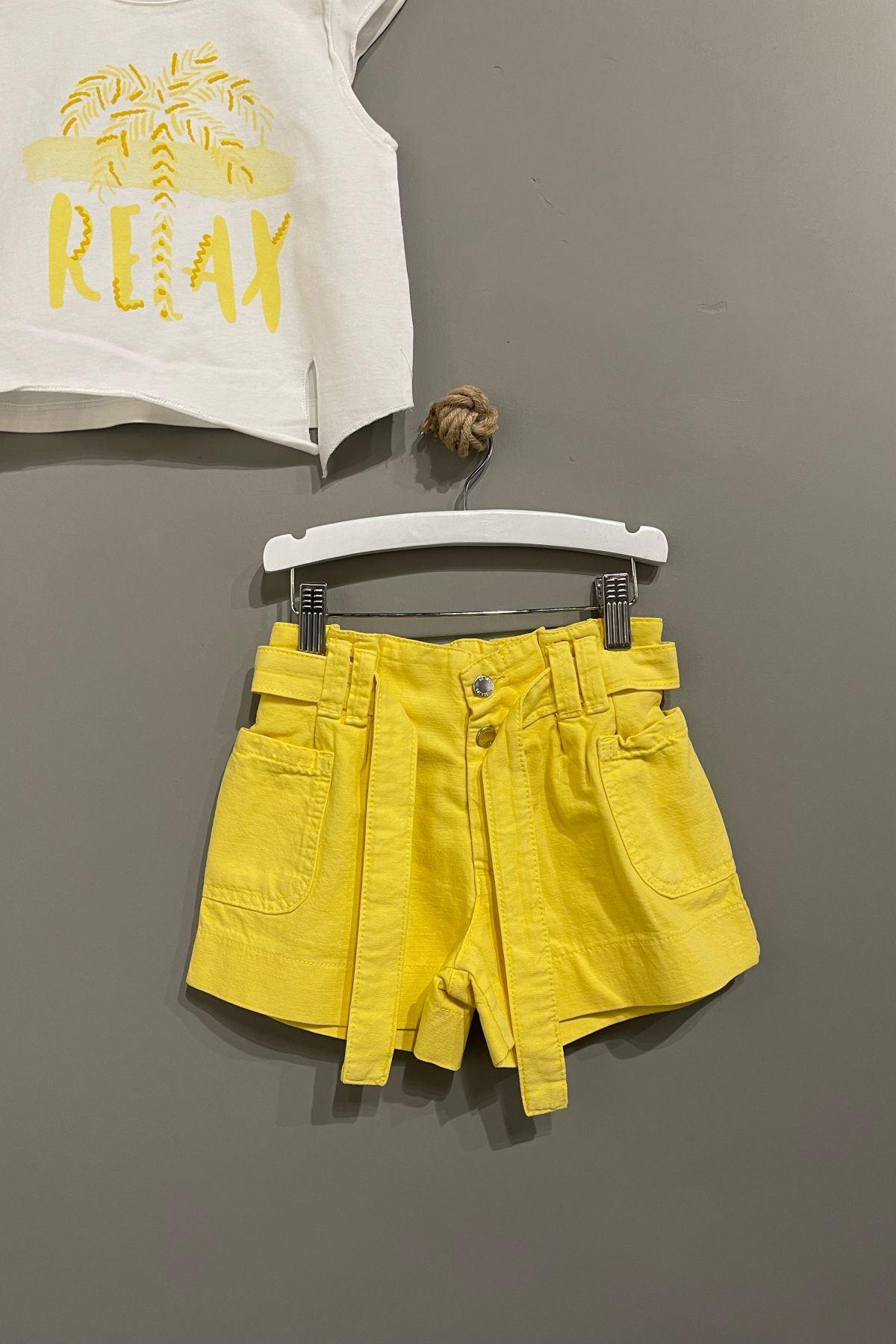 Relax Baskılı Kız Çocuk Takım - Sarı