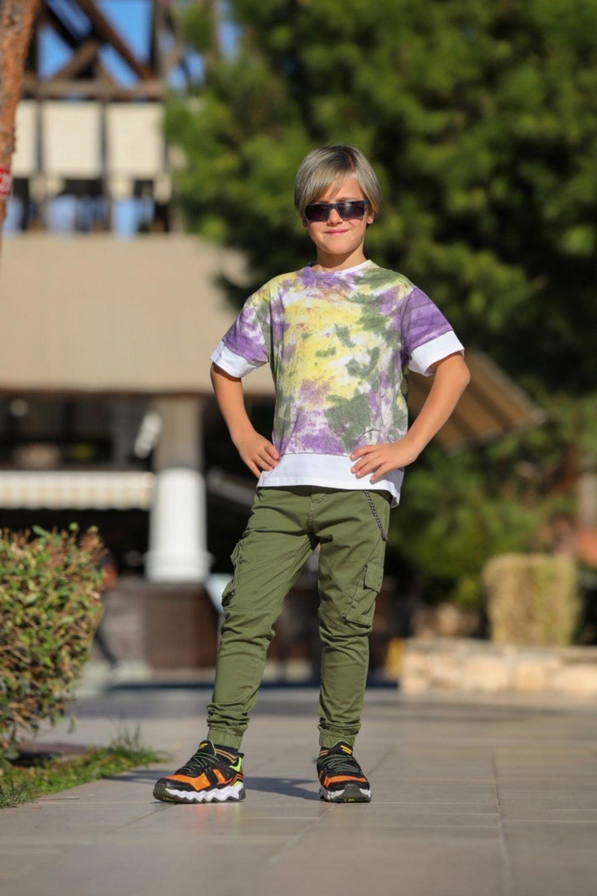 Batik Desen Erkek Çocuk Tshirt
