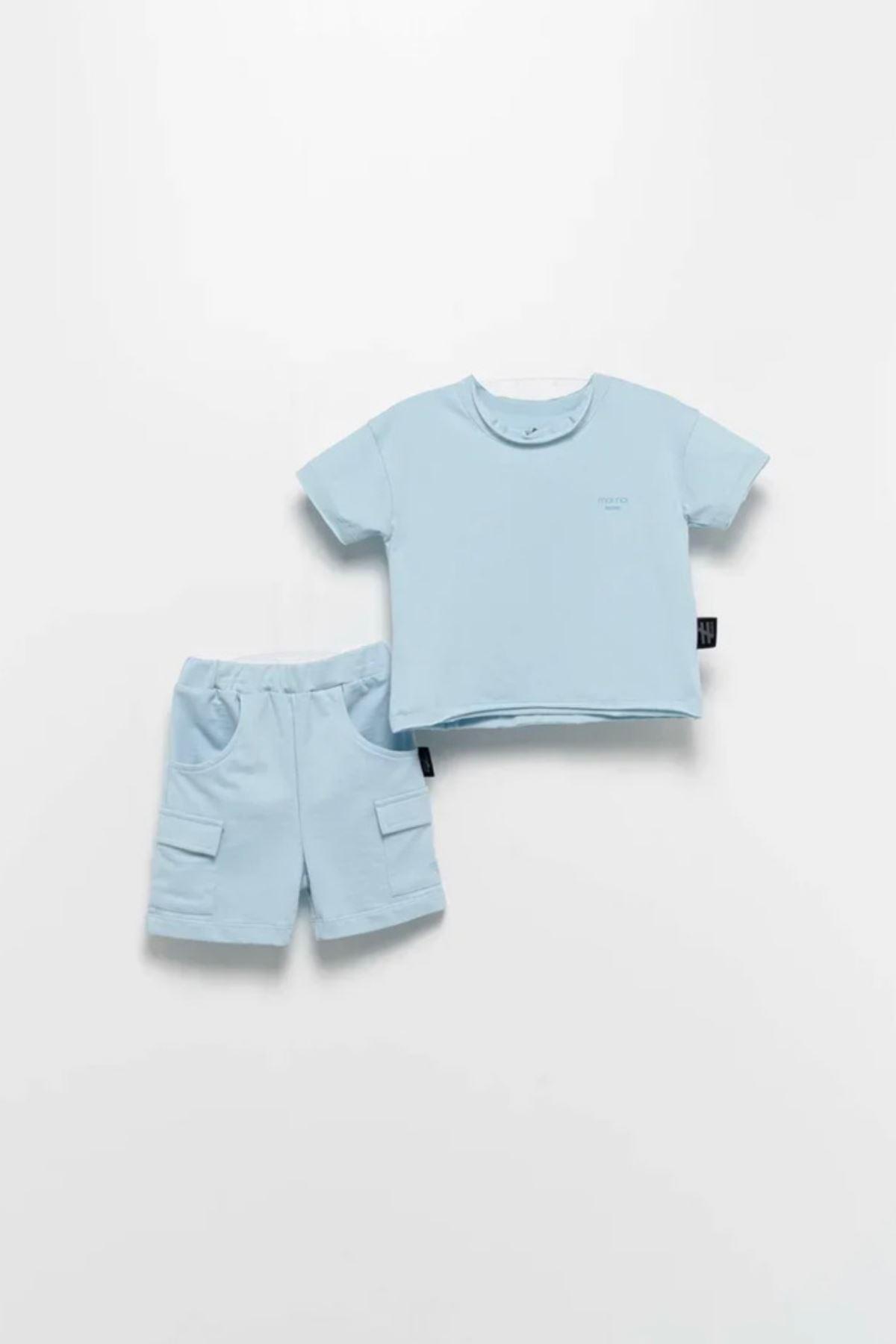 Moi Noi  1-5 Yaş 2'li Unisex Takım -Bebe Mavisi