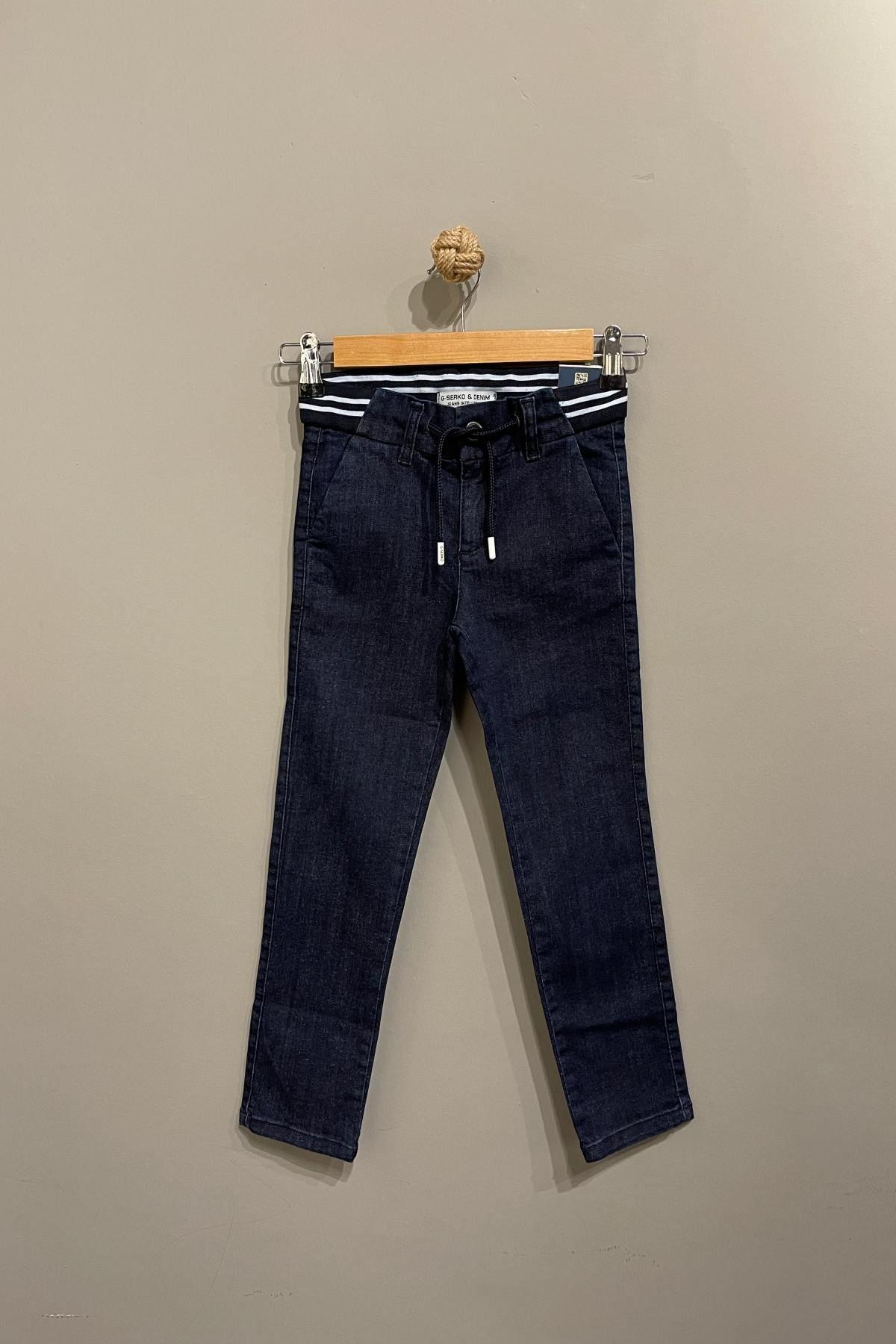 Erkek Çocuk Bağlama Detaylı Kot Pantolon- Laci