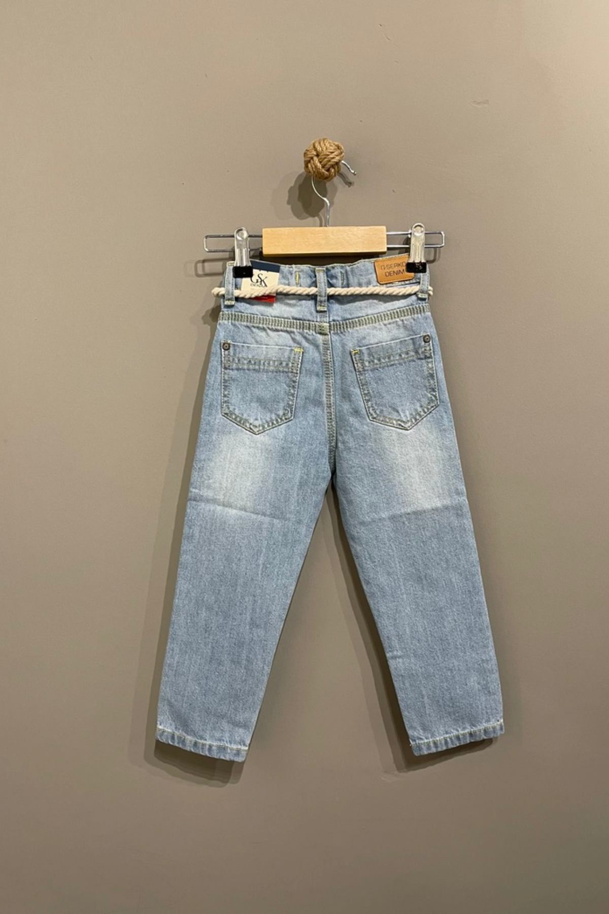 Kız Çocuk Yırtık Kot Pantolon