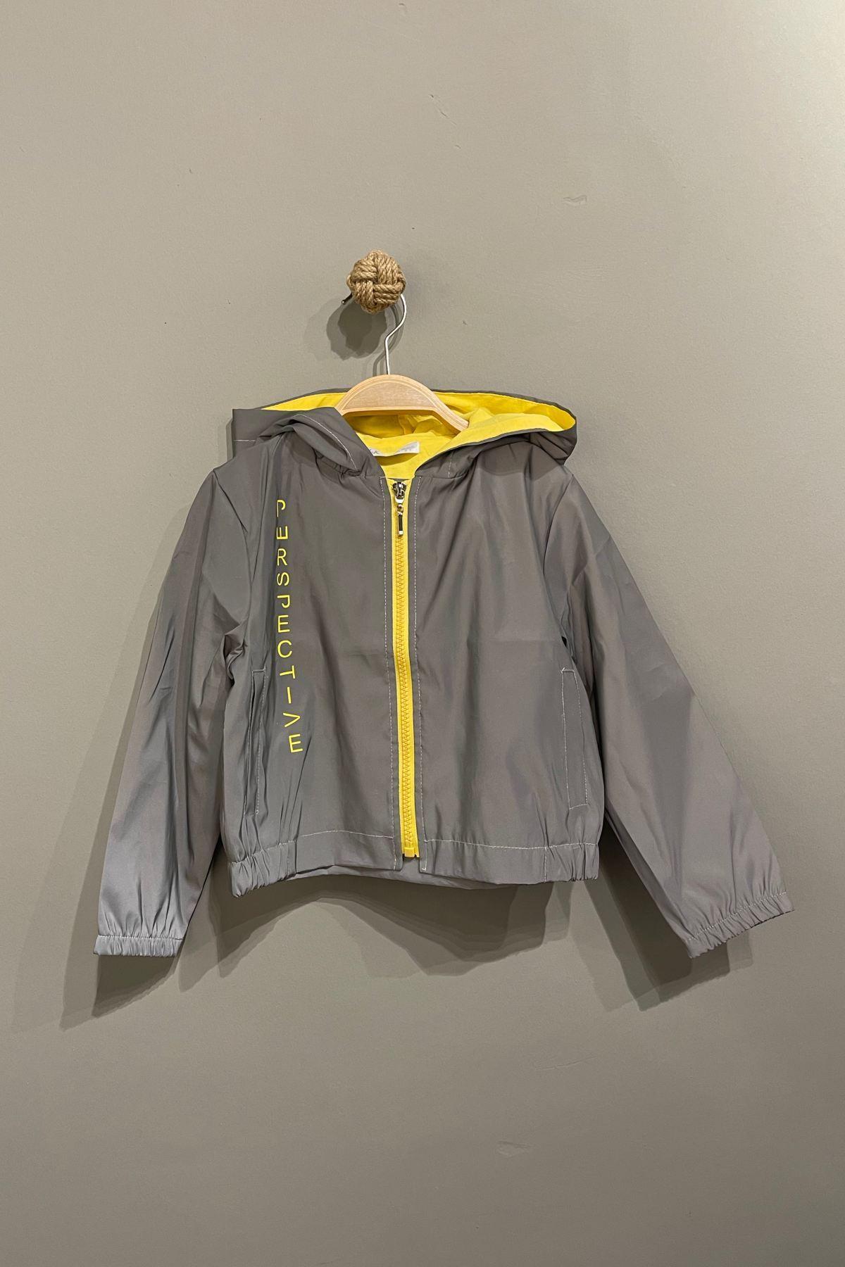 Reflektörlü Yağmurluk - Sarı