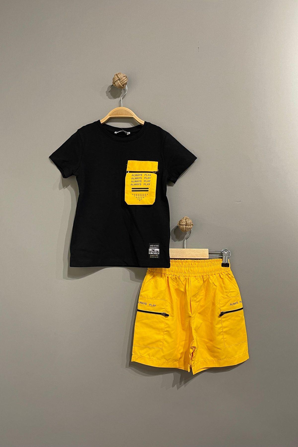 Mikro Erkek Çocuk Moda Takım - Sarı