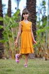 Alaçatı Kız Çocuk Elbise -Hardal